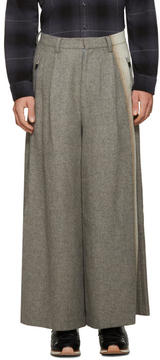 Facetasm Grey Wool Wide-Leg Trousers