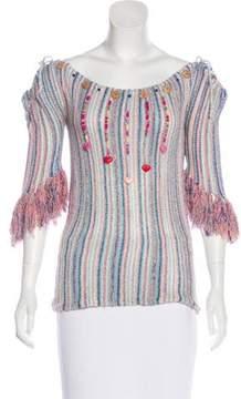 Matthew Williamson Embellished Silk Top