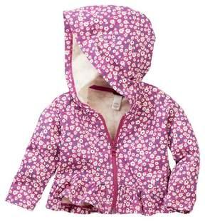 Tea Collection Ditsy Zip Hoodie (Baby Girls)