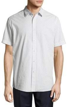 Report Collection Guitar-Print Cotton Shirt