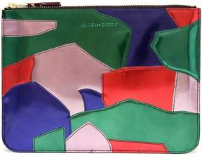 Comme des Garcons Patchwork patent leather pouch