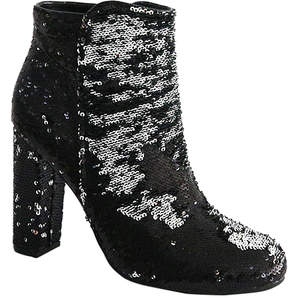 Bamboo Black Sequin Living Boot