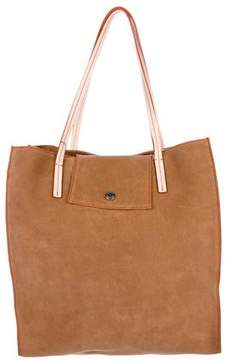 Stuart Weitzman Leather-Trimmed Suede Tote