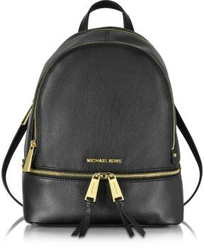 Michael Kors Rhea Zip Black Medium Backpack - BLACK - STYLE