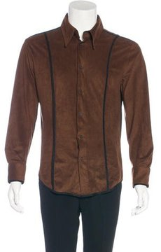 Just Cavalli Microsuede Button-Up Shirt