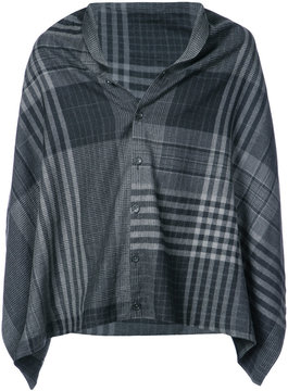 Engineered Garments check buttoned shawl