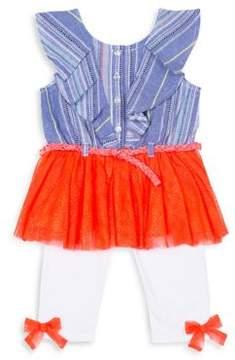 Little Lass Little Girl's Ruffle Tank and Pants Set