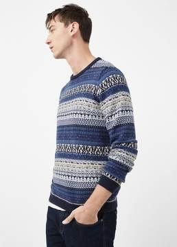 Mango Outlet Fair isle cotton-blend sweater