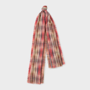 Paul Smith Women's 'Crossover Stripe' Double-Sided Wool Scarf