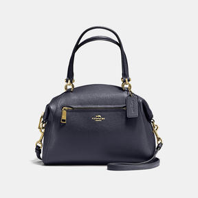 COACH Coach Prairie Satchel In Polished Pebble Leather - LIGHT GOLD/NAVY - STYLE