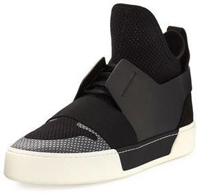Balenciaga Men's Multi-Material High-Top Trainer Sneaker
