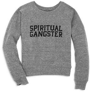 Spiritual Gangster Girls' Varsity Sweatshirt - Little Kid
