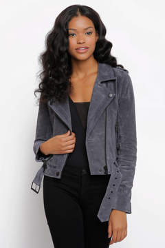 Blank Real Suede Moto Jacket