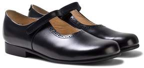 Start Rite Start-rite Navy Leather Delphine Velcro Mary Janes