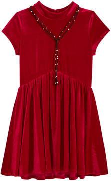 My Michelle Velvet Babydoll Dress, Big Girls (7-16)