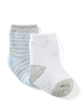 Starting Out Baby Boys 2-Pack Striped/Solid Socks