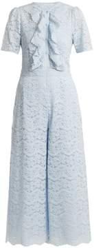 Temperley London Lunar floral-lace cotton-blend jumpsuit