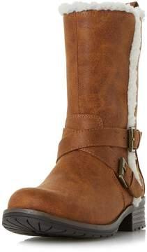 Head Over Heels *Reecey Tan Flat Boot