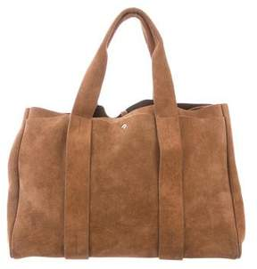 Theory Large Suede Signature Tote