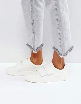 Pieces Leather Look Sneakers