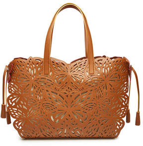 Sophia Webster Liara Leather and Canvas Tote