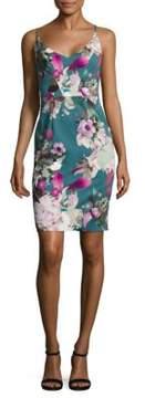 Black Halo Floral Jevette Sheath Dress