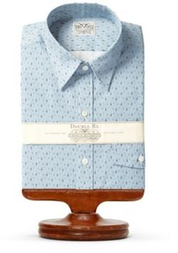Ralph Lauren French Cuff Cotton Dress Shirt Rl 933 Blue White 17