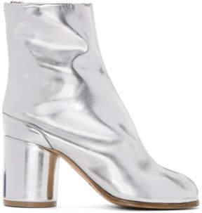 Maison Margiela SSENSE Exclusive Silver Tabi Boots