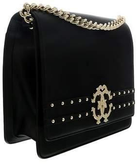 Roberto Cavalli Black Leather Medium Shoulder Bag