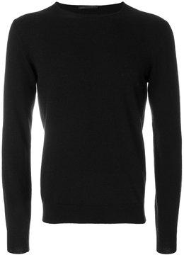 Daniele Alessandrini stripe detail crew neck sweater