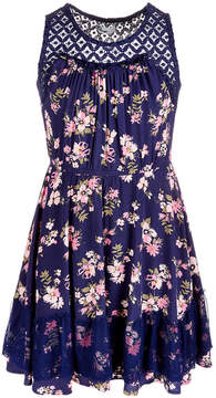 Epic Threads EpicThreads Big Girls Lace Floral-Print Dress, Created for Macy's