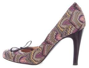 Missoni Rounded-Toe Fabric Pumps