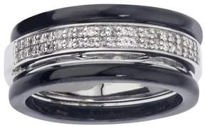 Armani Exchange Jewelry Diamond Stack Band in Sterling Silver (0.20 carats, H-I I2 I3)