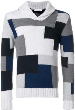 Cruciani patchwork knit jumper