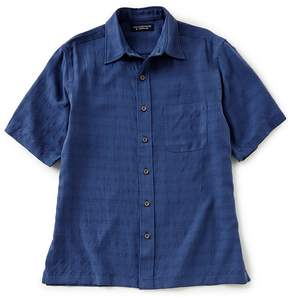 Roundtree & Yorke Big & Tall Short-Sleeve Plaid Sportshirt