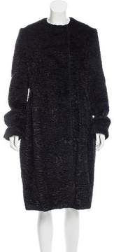 Sara Lanzi Faux Fur Long Coat