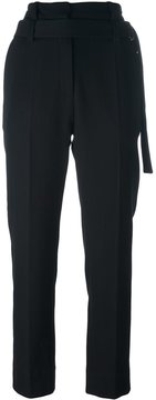 Ann Demeulemeester waist strap cropped trousers