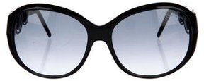 Roberto Cavalli Embellished Oversize Sunglasses