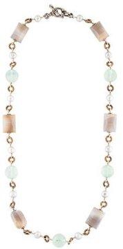 Stephen Dweck Pearl & Multistone Necklace