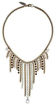 Fallon Crystal Fringe Collar Necklace