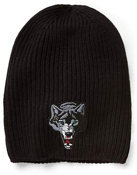 Gap Animal-patch ribbed beanie