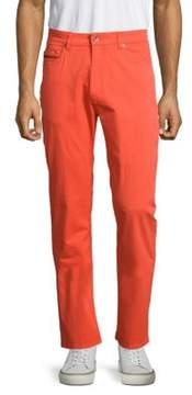 Robert Talbott Solid Stretch-Cotton Pants