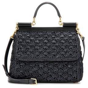Dolce & Gabbana Sicily Small raffia shoulder bag