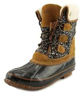 Khombu Jenna Women Round Toe Synthetic Black Winter Boot.