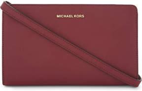 MICHAEL Michael Kors Jet Set Travel leather clutch - ACORN - STYLE