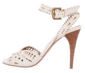 Etro Leather Laser Cut Sandals