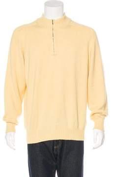 Loro Piana Woven Half-Zip Sweater