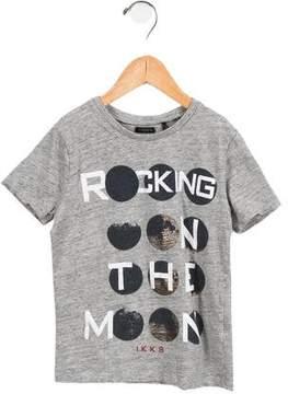 Ikks Girls' Rocking On The Moon Printed T-Shirt