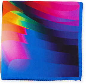 Bugatchi Abstract-Striped Silk Pocket Square