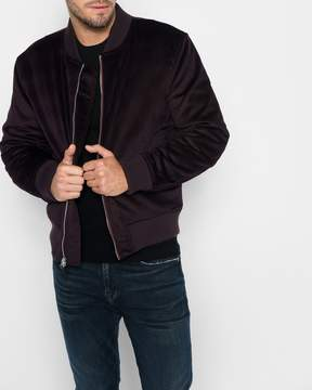 7 For All Mankind Micro Cord Bomber in Port Wine